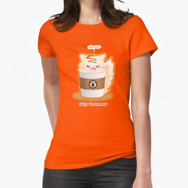 Purrista Pawfee: Salty Caramel Kitty Coffee Fitted T-Shirt