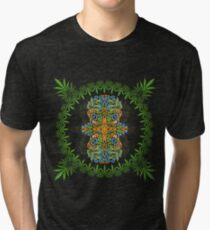 Psychedelic cannabis jungle spirit Tri-blend T-Shirt