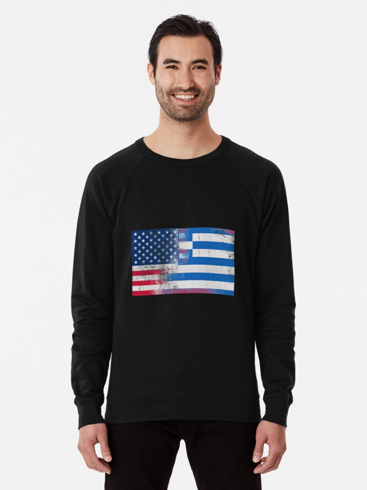 Mens American Flag Tuxedo Black//Camo Raglan Baseball Sweatshirt Black