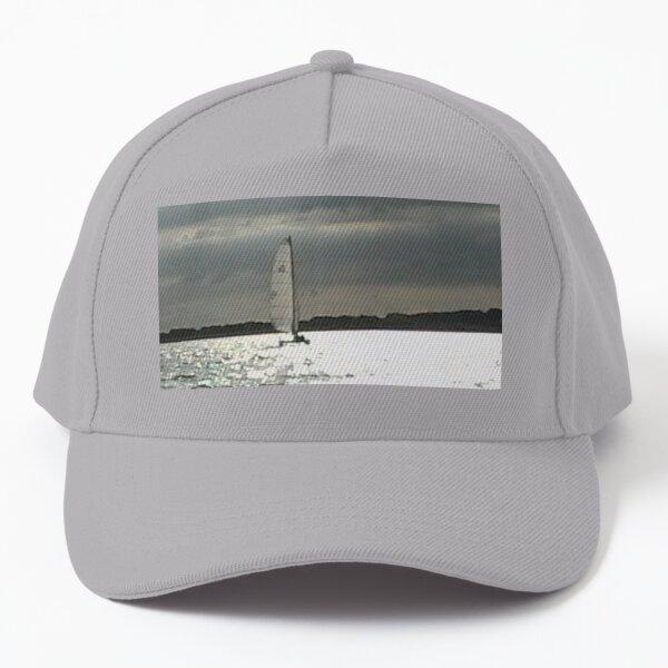Sailboat Under Autumn Clouds Baseball Cap