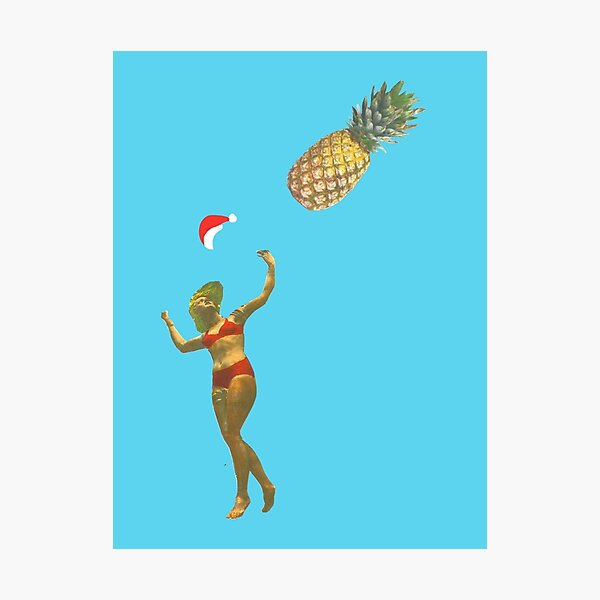 Pineapple Catch - Christmas Photographic Print