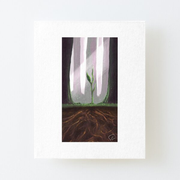 Earth Canvas Mounted Print