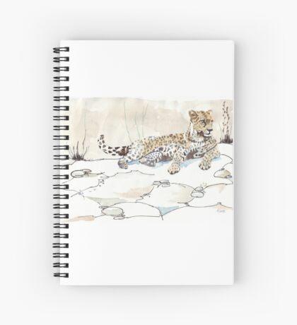 African Leopard {Panthera pardus} 'Luiperd' Spiral Notebook