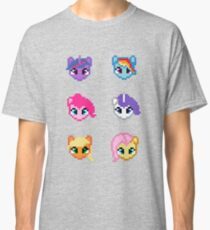 My Little Pony 8 Bit Characters Classic T-Shirt
