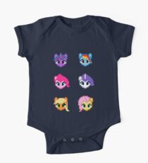 My Little Pony 8 Bit Characters One Piece - Short Sleeve