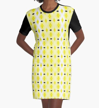 Diamonds Plus Diamonds Graphic T-Shirt Dress