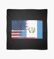 Guatemalan American Half Guatemala Half America Flag  Scarf