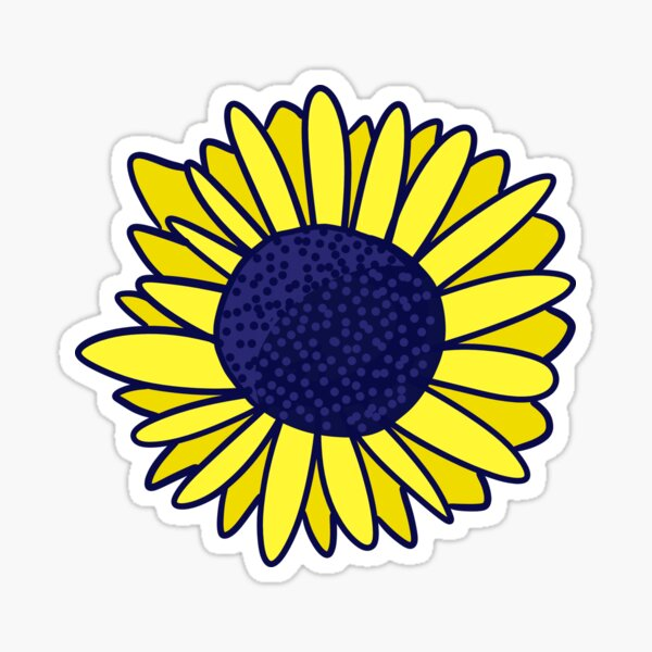 Sunflower Illustration Sticker