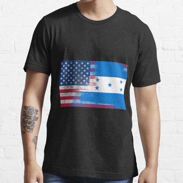 Bandera de Honduras medio americano Half Honduras Half America Camiseta esencial