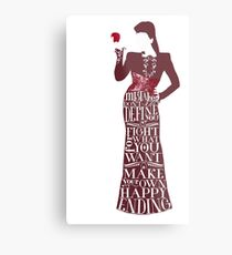 Regina Mills Make Your Own Happy Ending Metal Print