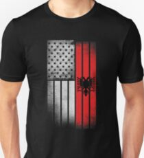 Albanian American Flag Unisex T-Shirt