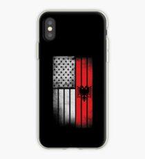 Albanian American Flag iPhone Case