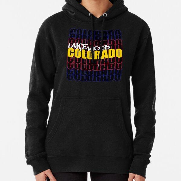 Lakewood Colorado State Flag Typography Pullover Hoodie
