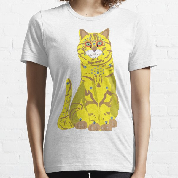 65 MCMLXV Bejeweled Yellow Disco Cat Print Essential T-Shirt