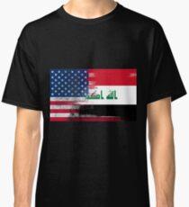 Iraqi American Half Iraq Half America Flag Classic T-Shirt
