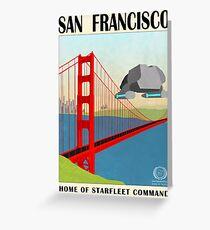 Star Trek - Reiseplakat (San Francisco) Grußkarte