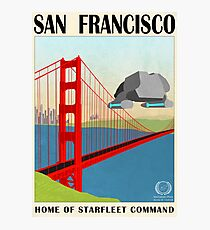 Star Trek - Travel Poster (San Francisco) Photographic Print