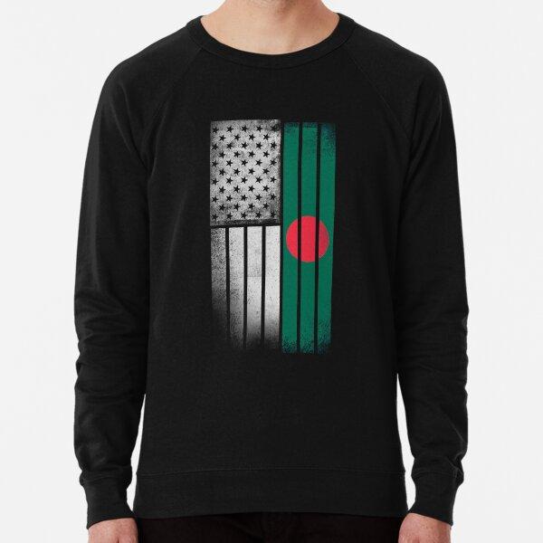 Bangladeshi American Flag Lightweight Sweatshirt