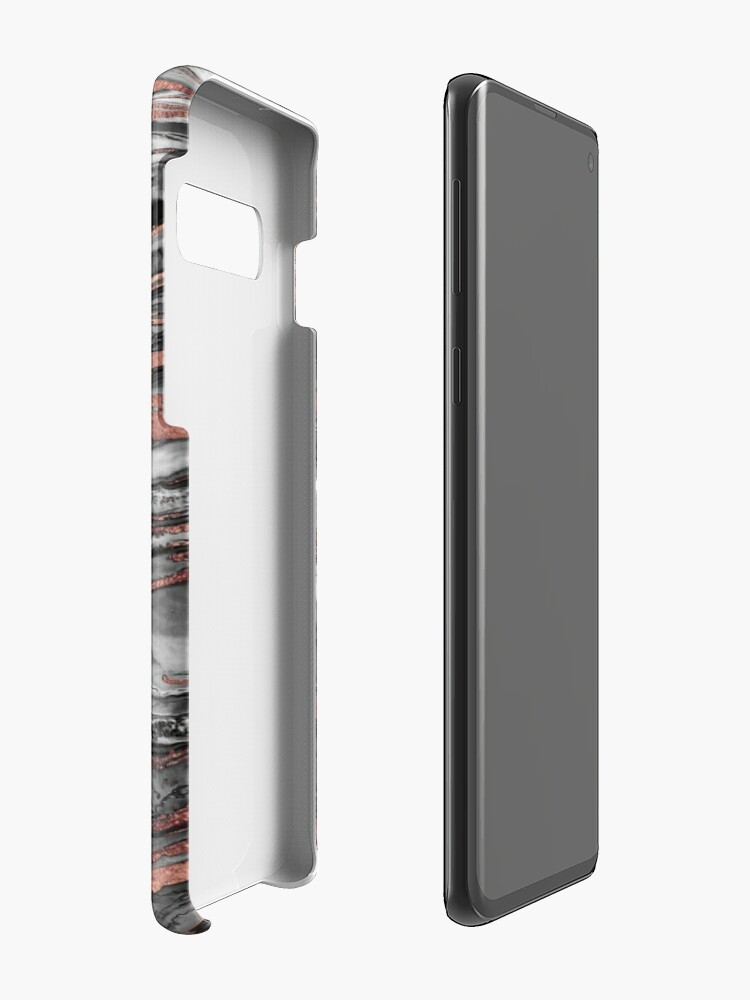 Alternate view of Modern rose gold abstract marbleized paint Case & Skin for Samsung Galaxy