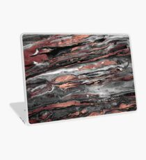 Modern rose gold abstract marbleized paint Laptop Skin