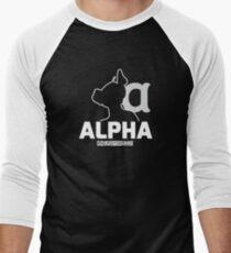 Nerdy Doggo Alpha Men's Baseball ¾ T-Shirt