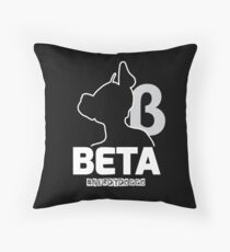 Nerdy Doggo Beta Throw Pillow