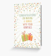 Congratulations Baby Shower Greeting Card