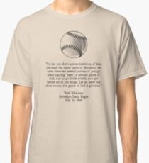 Walt Whitman - Baseball Quote (Black) Classic T-Shirt
