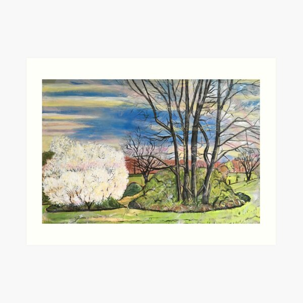 Hung With Bloom Along The Bough Art Print