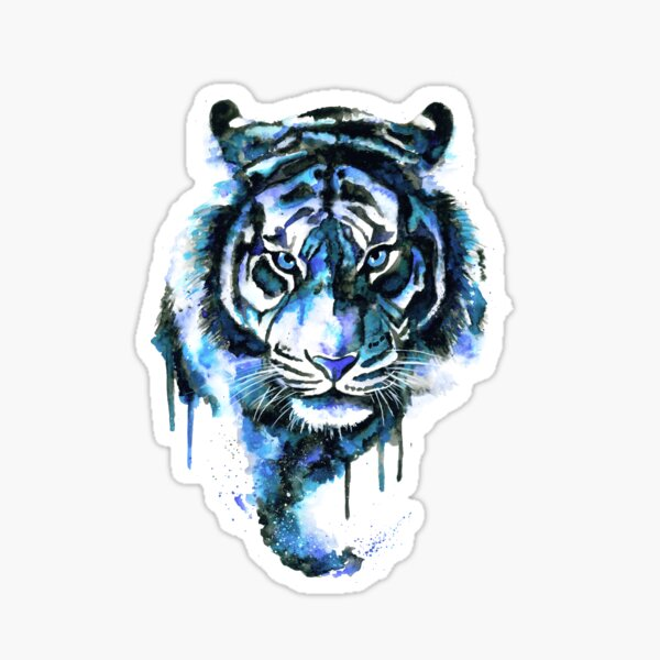 Blue Tiger Sticker
