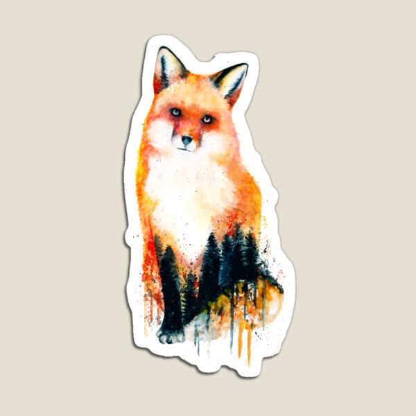Forest Fox Magnet
