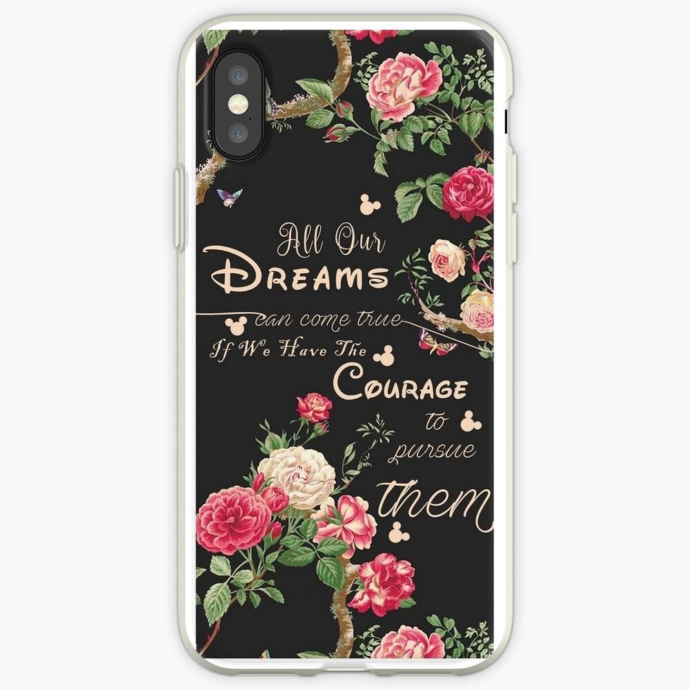 Alle unsere Träume können wahr werden Mickey Zitat des Tages iPhone-Hülle & Cover