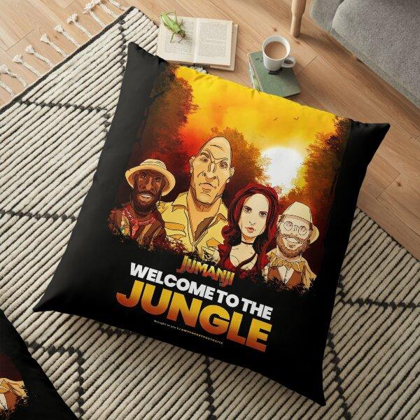 Adventure Movie Reboot Illustration & Quote Floor Pillow