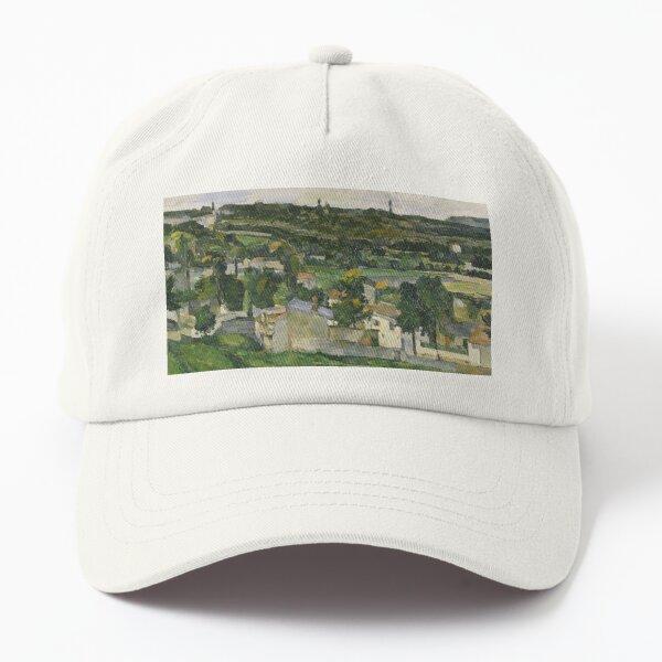 Stolen Art - View of Auvers-sur-Oise by Paul Cezanne Dad Hat