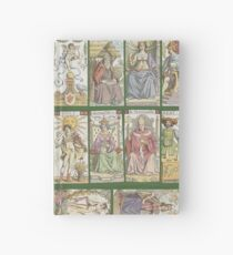 "cover of book with tarot cards (""Tarot of the Master"") Hardcover Journal"