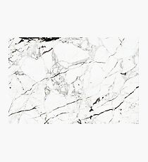 White Marble Slab Photographic Print