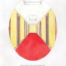 Haruki Murakami's Dance Dance Dance // Illustration of The Dolphin Hotel in Watercolour & Pencil by arosecast