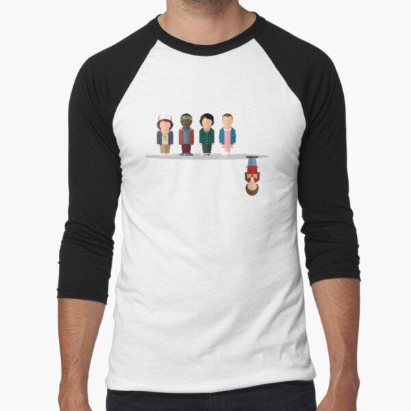El revés Camiseta ¾ estilo béisbol