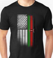 Kenyan American Flag Unisex T-Shirt
