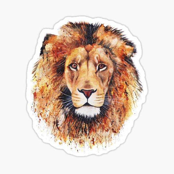 Lion orange Sticker