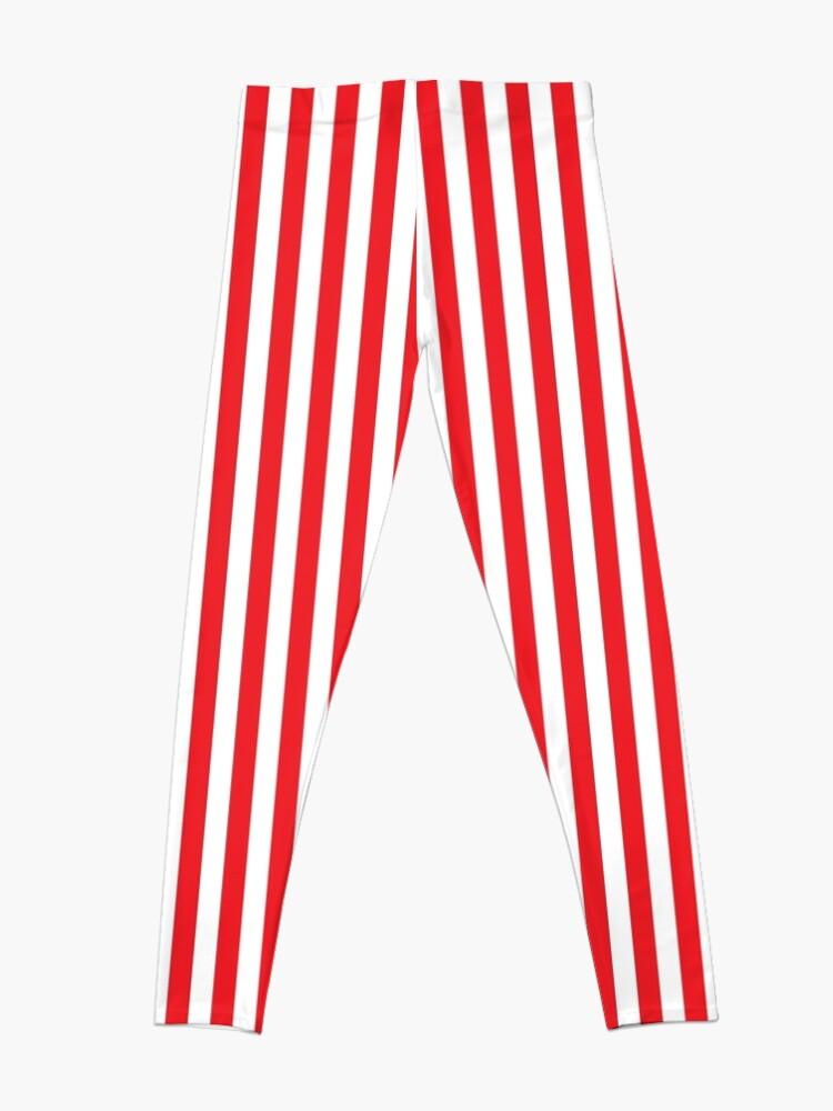 Alternate view of RED WHITE VERTICAL STRIPE Leggings