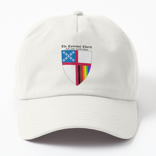 Episcopal Church Shield with 8 Colours Rainbow Pride 2 Dad Hat