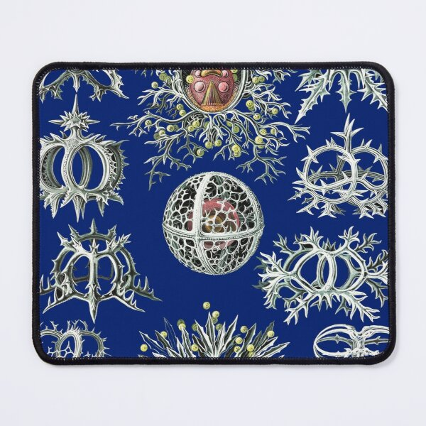 Micro-Nature no 21 - Micro Nature on navy background. Mouse Pad