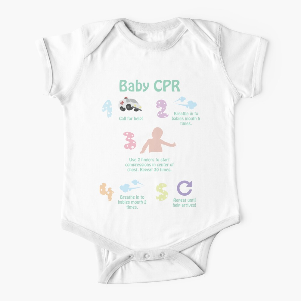5 Steps of Baby CPR Baby One-Piece