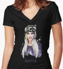 katya Zamolodchikova Women's Fitted V-Neck T-Shirt