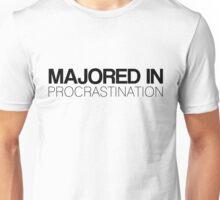 Majored in Procrastination Unisex T-Shirt