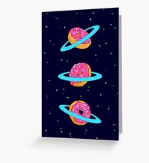 Sugar rings of Saturn Greeting Card