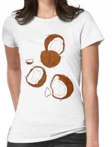 Coconut Womens Fitted T-Shirt