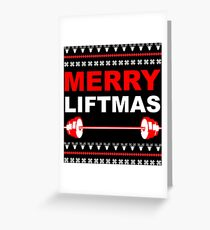 Merry Liftmas Greeting Card