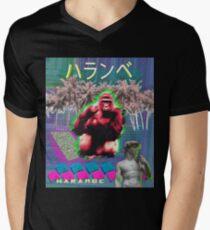 Vaporwave Harambe Men's V-Neck T-Shirt
